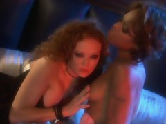 Tongues and pussies are used when Marie Luv and Audrey Hollander get together