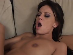 Holly Wellin enjoying herself while a guy is giving her an anal plowing
