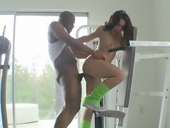 Kristina Rose gets serviced all over by studs in this very naughty video