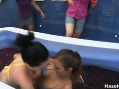 Jello wrestling college babes