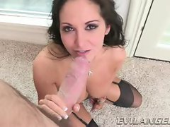 Gorgeous Ava Addams gets showered with warm jizz