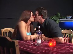 Romantic dinner and a steamy fuck for this beauty