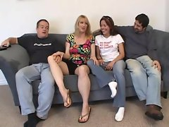A fourway fucking for MILF Bethany Sweet