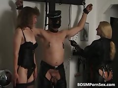Awful and kinky BDSM action where tied