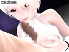 Animated blonde blowing a dick