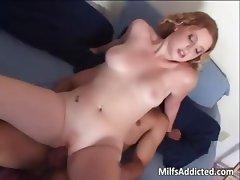 Sweet  milf fucks hot guy