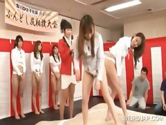 Asian teenies shows sexy twats in group