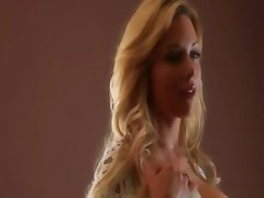 Blonde beauty Kayden Kross with a perfect body masturbates