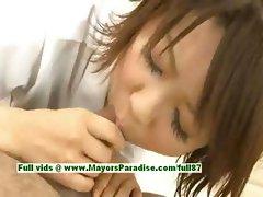 Miriya Hazuki superb asian girl gives head