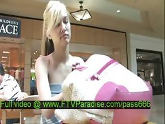 Alexa tender amazing blonde babe shopping