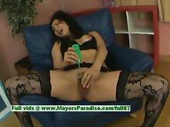 Megumi Haruka innocent asian girl rides a dildo