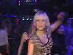 So sensual seductive russian young woman in club