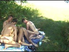 BISSEX Seductive teen 5 sex party outdoor