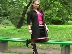 black boots pantyhose