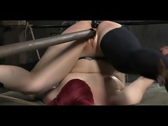 Slave Claire Adams Caged Caned and Impaled