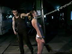 Chained and brutal punished Amy is a natural submissive mind.