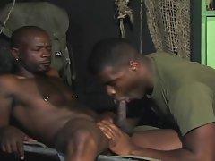 Ebony army chaps
