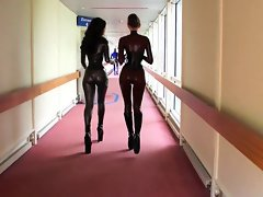 Amazing latex rubber randy chicks