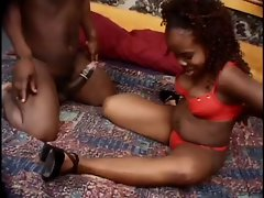 Midget filthy ebony couple