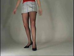 Dancing babe pantyhose upskirt