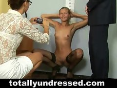 Job candidate gets totally undressed