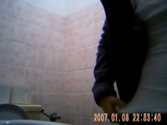 Nice young girl spied on toilet