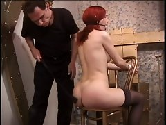 Horny master plays with his sexy slave