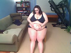 BBW Maela Flaunts Her Big Belly