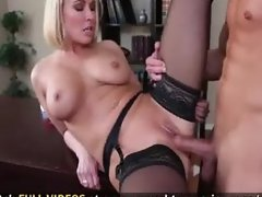 Busty Blonde Teacher Is Horny and Fucks Big Cocked Student