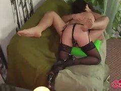 Femdom loving bitch in stockings