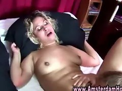 Sexy dutch whore gets eaten out