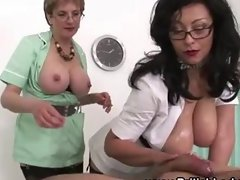 Mature femdom ffm russian handjob cumshot