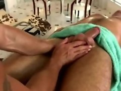 Gay straight guy massage seduction blowjob