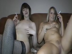 Euro Amateurs smoking and wanking