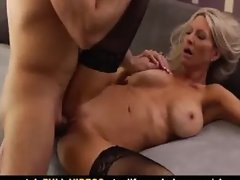 MILF Emma Starr Takes Job From Sugar Daddy To Fuck Old Boss