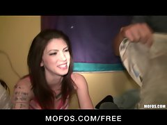 Mofos - Three girlfriends play truth or dare &amp, start an orgy