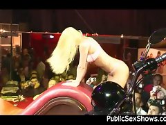 Sexy stripper sitting on a guy&amp,#039,s face