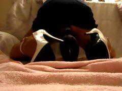 White Heels, Skirt and Pin 2