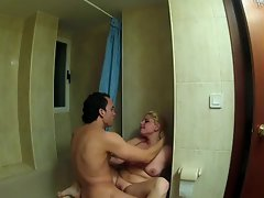 FAKings - Bathroom fuck with a spanish blonde