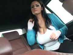 Horny Strip in Cab
