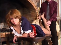 Cumming on the maids nylons
