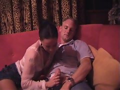 Dutch girl Eva gets it on with two boys in a sexclub