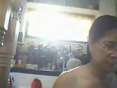 naked mom after shower