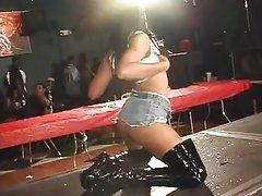 Horny ebonies stripping fuck for cash