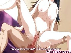 Huge titted hentai babe gets fucked