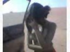 arabic girl with perfect body in desert with bra