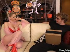 Massive tits blonde julian ann getting huge dick for trick or treat