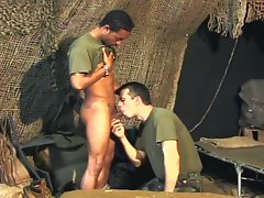 Two gay army studs having hardcore anal pounding