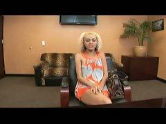 Cute blonde chick in casting, sucks and fucks pov sex
