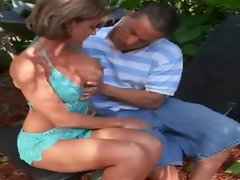 Bountiful boobies blonde milf pounded hard outdoors